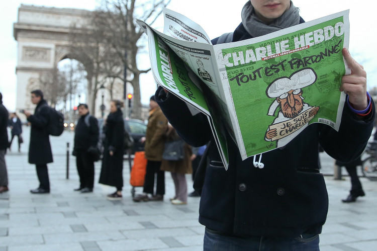 Charlie Hebdo's newspaper first day delivering in Paris